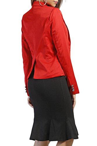 INFINIE PASSION - bouton noir - Veste tailleur rouge Rouge