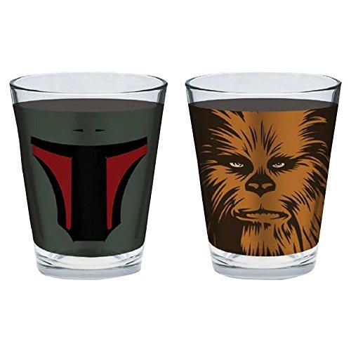 gafas de Star Wars juego de 4 vasos de 5 cl de caracteres
