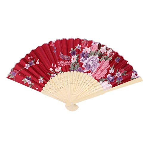 Bauchtanz Von Art Kostüm Ein Einer - Lcxghs Faltfächer Handfächer Bunter chinesischer Bambus Faltfächer Blumen Blumenhochzeit Tanz Party Dekoration