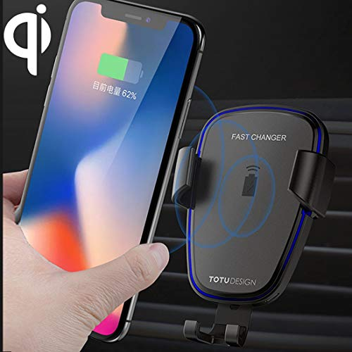f790b07887b7c TOTUDESIGN Ruizhi Series Wireless Car Charger with Gravity Holder for  iPhone, Galaxy, Sony, Lenovo, HTC, Huawei and Other (Black)
