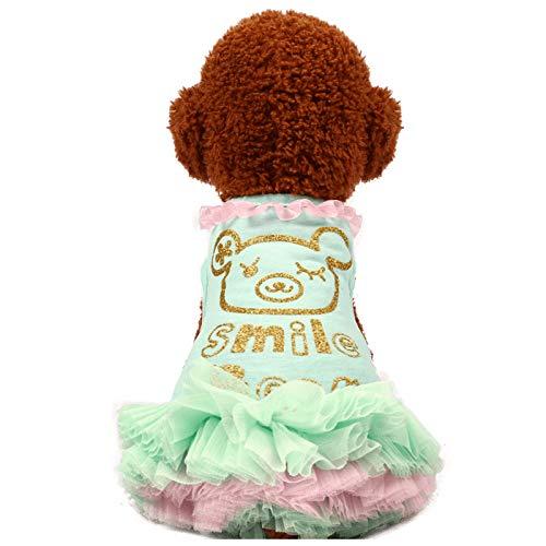 LXLLXL Haustier Prinzessin Kleid Teddy Als Bär Bomi Kleiner Hund Milch Hund Frühjahr/Sommer Hund Kleidung Katze Haustier Kostüme