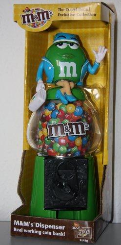 M & M 's/m & M/dispensador-Flying Miss Green/azafata-Banco Coin-28cm de alto aprox.
