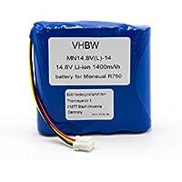 vhbw Li-Ion batería 1400mAh (14.8V) para robot autónomo de limpieza como