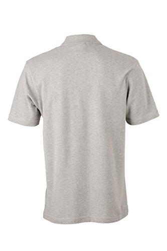 James & Nicholson Herren Poloshirt Basic Polo Grau (Grey-Heather)