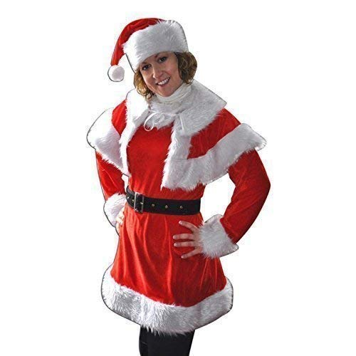 Lively Moments Weihnachtskleid / Weihnachtskostüm Miss Santa mit kurzem Cape Gr. 38 - 40 (Miss Santa Cape)