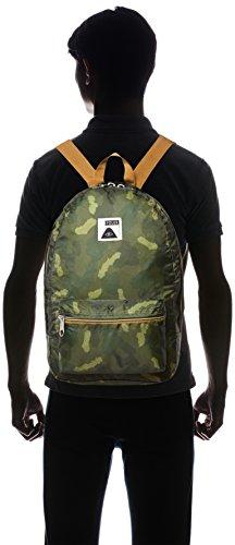 Poler Folding Rucksack Bag, Stuffable Pack, Unisex, Faltbarer Rucksack Bag Stuffable Pack, Green Camo, 50 x 40 x 6 cm, 14 Liter