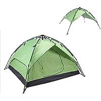 AiNaMei Camping al aire libre 3-4 personas tienda de campaña a prueba de lluvia, verde