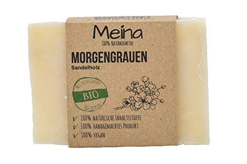 Meina Naturkosmetik - Seife mit Sandelholz (1 x 110 g) 100% natürliche, vegane, handgemachte Bio Naturseife - Körperpflege und Gesichtspflege -