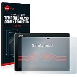 Savvies Verre Trempé Compatible avec ASUS ZenPad 10 Z300C / Z300CL / Z300M Film Protection Ecran - 9H