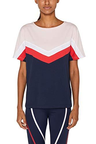 cf0f6d79 ESPRIT Sports Damen Tshirt cb Sporttop Blau (Navy 400) 36 (Herstellergröße:  S