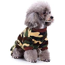 Berrose-Mode Haustier Plüsch Schlafanzug warme Kleidung Hündchen Bekleidung Camouflage Hundbekleidung Hunde Kleider Kostüm Welpen-Haustier-Hund kleidet Sweatshirts