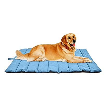 "Sue Supply Colchón antideslizante para perro, tamaño grande, plegable e impermeable, para casa, coche, al aire libre (43"" x 27"")"
