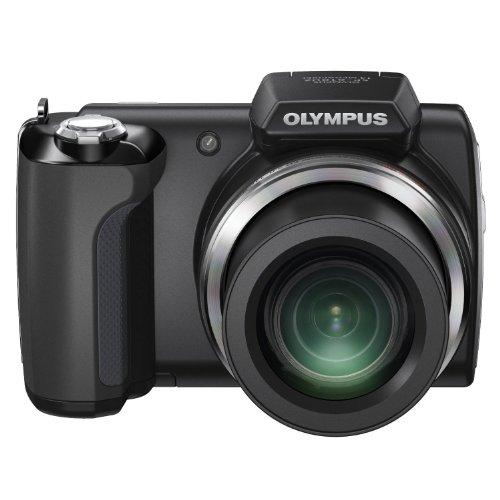 Olympus SP-610UZ Digitalkamera (14 Megapixel, 22-fach opt. Zoom, 7,6 cm (3 Zoll) Display, bildstabilisiert) schwarz (Olympus Sp 800)