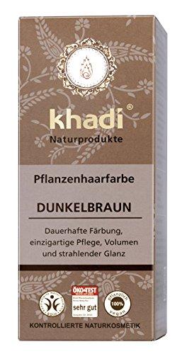 khadi Naturprodukte, Pflanzenhaarfarbe Dunkelbraun (1 x 100g)