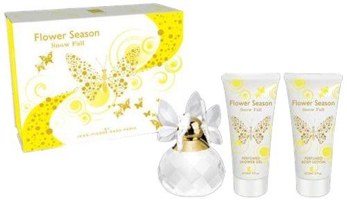 Jean Pierre Sand Coffret Flower Season Snow Fall pour Femme 100 ml + Eau de Parfum 15 ml + Lotion Hydratante 120 ml