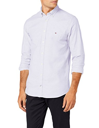 Tommy Hilfiger Herren Freizeithemd Core Stretch Slim Oxford Shirt, Weiß (Bright White 100), XX-Large