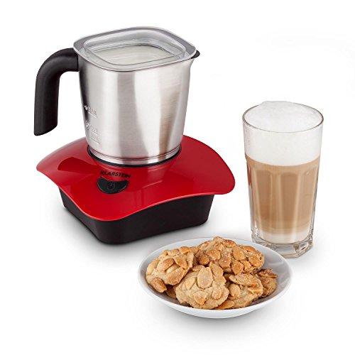 Klarstein Soprano - Mousseur à lait de 500W avec pichet en acier inoxydable - 150/300ml