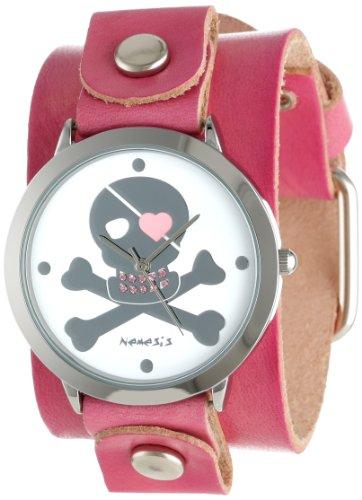 Nemesis Mujer P821PVGB Elegant Heart Skull Love Reloj