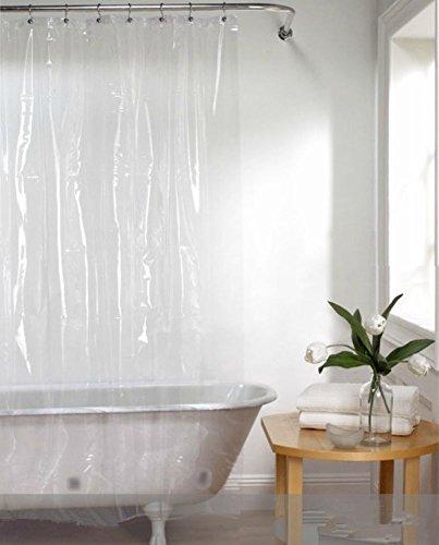 Luk Oil superdünn Pure Color Vorhang für die Dusche PEVA Umweltfreundliche Duschvorhang Liner 70Breit * 70high (Zoll) - Vorhang Dusche Liner Klar
