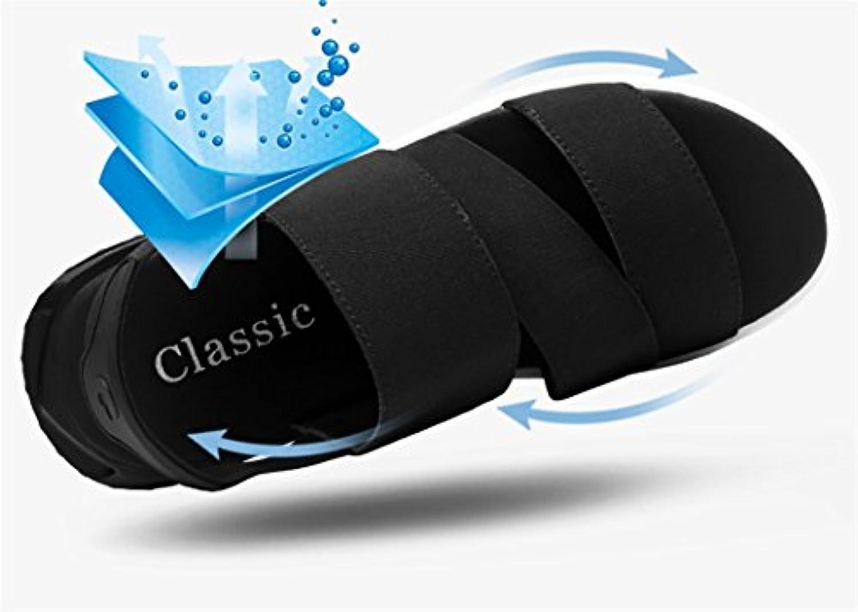 xueyan&Sandalias para hombres Zapatos de playa de cuero , black 1717 , 41