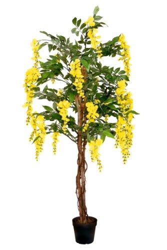 Goldregen 1,50 m künstlich Kunstbaum Kunstpflanze Echtholzstamm