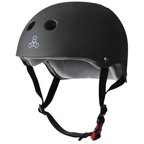 Triple 8 New York 3602Schweiß Saver Cert Helm, Gummi schwarz, Large/X-Large