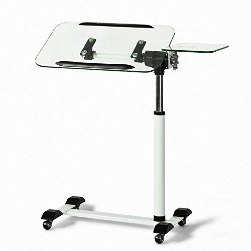 SoBuy® mesa auxiliar con ruedas, mesas de centro, mesas para portatiles, mesitas de noche, Altura ajustable, FBT07N5,ES