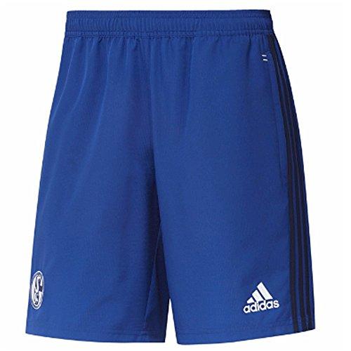 Adidas S04 WOV SHO Pantalón Corto FC Schalke 04, Hombre, Azul (Azufue/Azuosc), 3XL