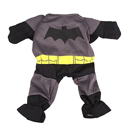 Kicode Cartoon Teddy Kostüm Batman-Art-Kleid-Kleidung Warmer Mantel Hund Overall Netter Held Outfit Bitte Teddy Kleidung Party