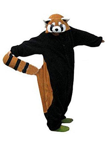 Canberries Damen Herren Jumpsuit Tier Onesie Einhorn Panda Pinguin Giraffe Pyjamas Jumpsuit Anime Cosplay Karneval Kostüm Schlafanzug Erwachsene (L, ()