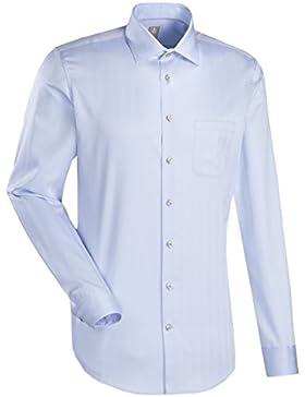 JACQUES BRITT Business Hemd Slim Fit 1/1-Arm Bügelleicht Streifen City-Hemd Kent-Kragen Manschette weitenverstellbar