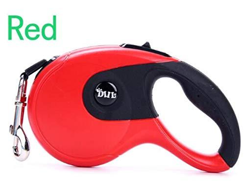 SUXIAO Einziehbare Hundeleinen Auto Cats Hundehalsband Blei Welpe Nylon Für kleine, mittelgroße Haustiere Zubehör, Rot, 5M Plus Mit Gabage -