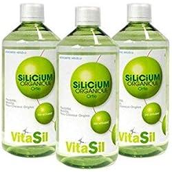 Vitasil 7920004435 Silicium Organique Ortie Bio Activé 3 x 500 ml