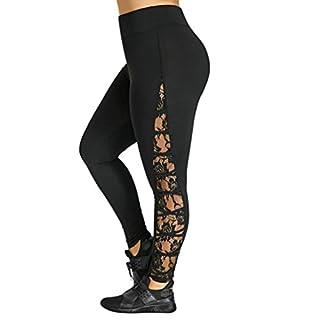 LANSKIRT Damen Leggings Hose Yogahose Sport-Leggings Jogginghose Hüfthose Strumpfhose Leggins Hose Strumpfhose Schwarz Workout Stretch High Elastic Yoga Hosen Pants (XXXL, Schwarz)