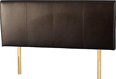 Palerme 5'Tête de lit en similicuir Marron en Cuir