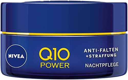 NIVEA Q10 Power Anti-Falten + Straffung Nachtpflege für jünger aussehende Haut, regenerierende...