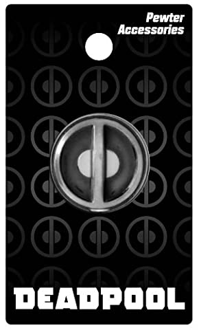 Marvel Comics Deadpool Logo Pewter Lapel Pin