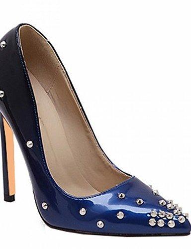 WSS 2016 Chaussures Femme-Mariage / Bureau & Travail / Habillé / Décontracté / Soirée & Evénement-Bleu / Blanc / Bordeaux / Amande-Talon Aiguille- blue-us9 / eu40 / uk7 / cn41