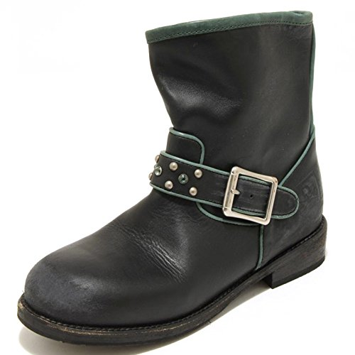 2588G stivaletto donna nero verde MR. WOLF scarpa stivale boots shoes women [39]
