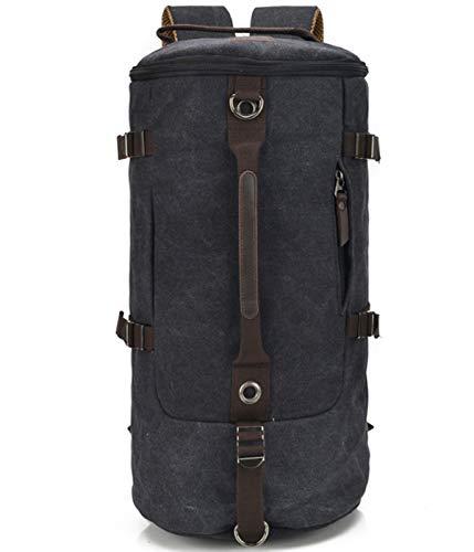Flying.Large-Capacity Travel Men's Bag Cylinder Shoulder Bag Fashion Multi-Functional Soulder Canvas Crossbody Bag Drums Handbags -