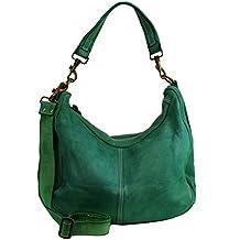 ca3c0b407 BZNA Bag Sia verde green Italy Diseñador Mujer Piel De Oveja bolso bolso  hombro Shopper nuevo