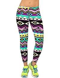 Smile YKK Pantalon Imprimé Femme Sexy Collant Fantaisie Legging Minceur Yoga Jogging Sport