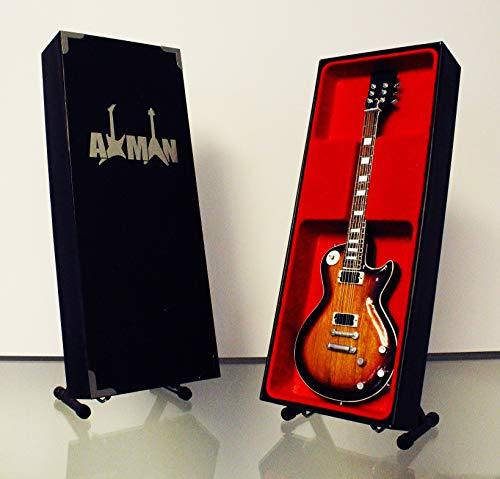 Miniatura Guitarra Replica: Slash–Hunter ráfaga les paul–Modelo Mini Rock Memorabilia réplica de madera miniatura guitarra & Libre Pantalla Soporte (vendedor de Reino Unido)