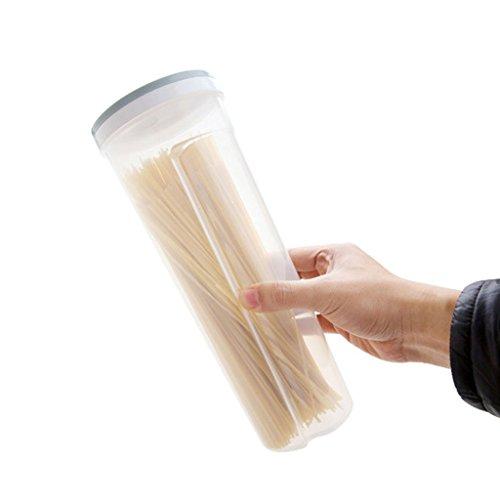 Altezza recipiente per spaghetti noodle/pasta contenitore ermetico, ermetico con bloccaggio coperchi light blue