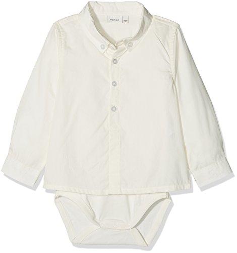 NAME IT Baby-Jungen NBMSANDER LS Shirt Formender Body, Weiß (Snow White), 62