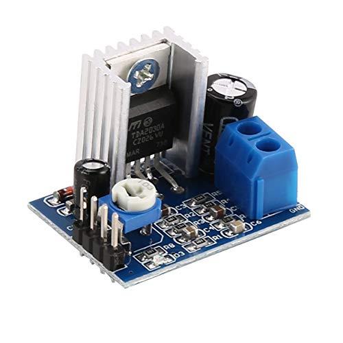 Comomingo TDA2030A Super Mini DC 6-18V Audio Verstärker Board Modul Dual Channel (blau)