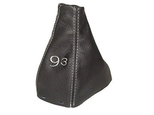per-saab-9-3-93-ss-2003-manuale-cambio-del-cambio-in-pelle-italiana-nera-con-grigio-93-ricamo-logo
