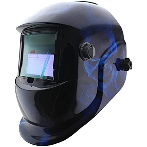Calavera azul Solar oscurecimiento automático máscara de soldadura al arco MMA TIG MIG soldador DIGITALJIMS cascos máscara
