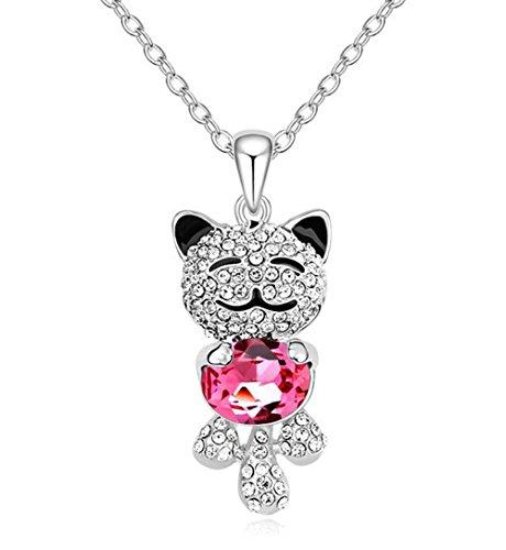 findout Damen rosé vergoldet Swarovski-Element-Kristall-Diamant Dreieck Ohrringe .für Frauen Mädchen -