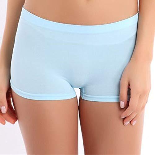 Frauen Shorts,Hellblau Nylon Frauen Sommer Farbe Shorts Training Bund Dünne Hohe Taille Shorts Gummizug - Frauen Nylon Shorts